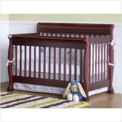 Bundle-36 Kalani 4-In-1 Convertible Crib With Toddler Rail In Cherry (2 Pieces) Finish: Honey Oak front-317865