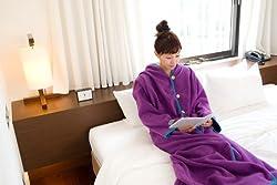 ヌックミィ/NuKME 着る毛布 180cm (男女兼用フリーサイズ) スタンダードガウンケット パープル