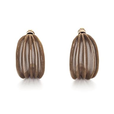 Cooper Pleat Clip Earrings by Sarah Cavender