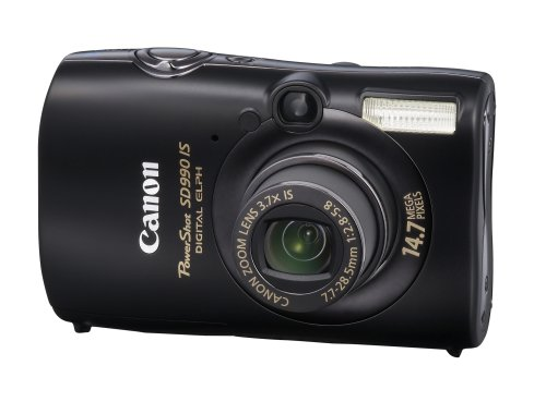 Canon PowerShot SD990 IS is one of the Best Ultra Compact Digital Cameras for Low Light Photos Under $1000
