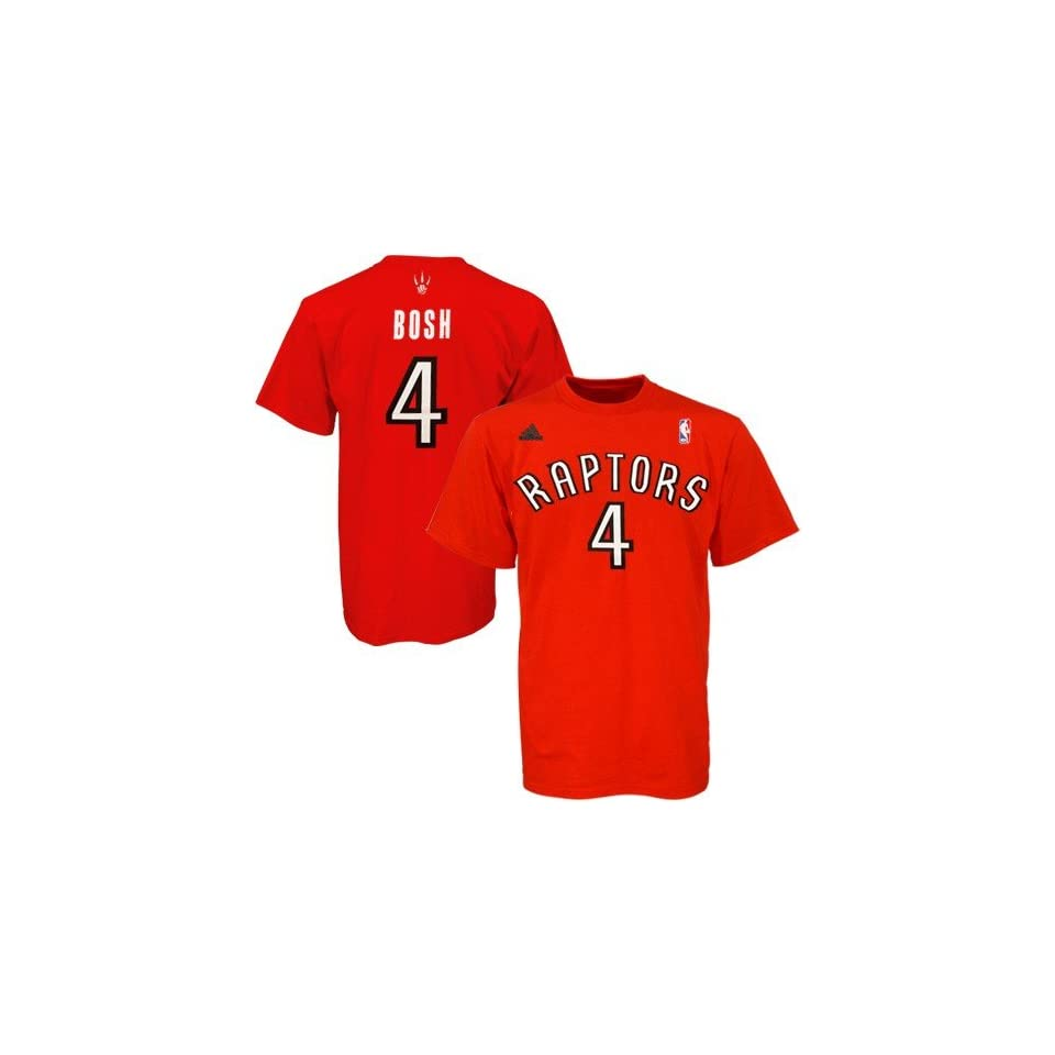 30f338a290b NBA adidas Toronto Raptors  4 Chris Bosh Red Net Player T shirt on ...