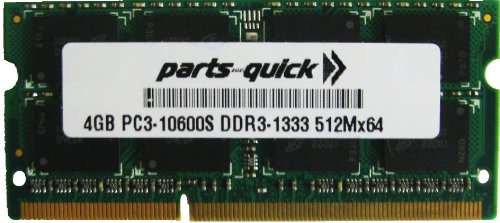 Click to buy 4GB RAM Upgrade for Toshiba Portege R835-P89 DDR3 PC3-10600 SODIMM Memory (PARTS-QUICK BRAND) - From only $46.99