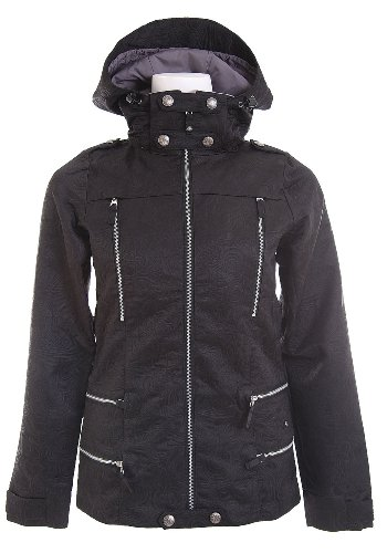 Burton LTD Elevation Snowboard Jacket True Black Matelesse Womens Sz XS