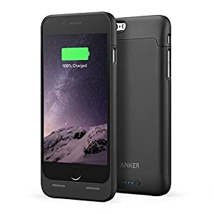 iPhone 6s Battery Case [Apple MFi Certified] Anker Ultra Slim Extended Battery Case for iPhone 6 (2014) / iPhone 6s (2015) (4.7 inch) with 2850mAh Capacity / 120% Extra Battery (Black)