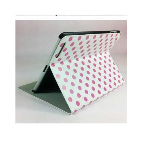 Ipad 2 Smart Cover Slim Magnetic Pu Leather Case Wake/ Sleep Stand Pink Dot