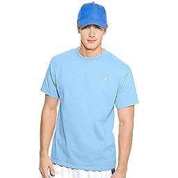 Champion Cotton Jersey Men\'s T Shirt - Medium, Candid Blue