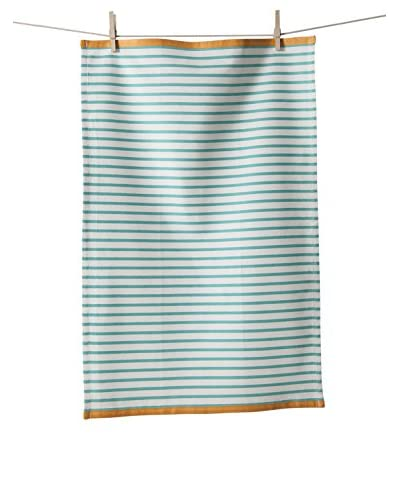 KAF Home Set of 3 Hampton Stripe Towel, Turquoise