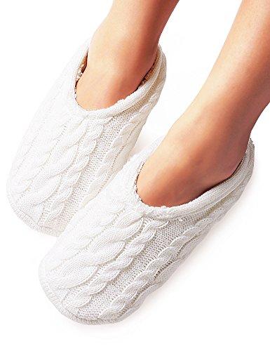 vero-monte-2-pairs-womens-knitted-slipper-socks-size-8-9-grey-white