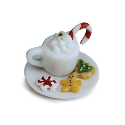 Itsy Bitsy Hot Chocolate Set Fairy Garden Village Accessories Pieces Decoration Dollhouse - 1
