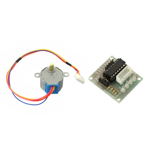 Tabstore New Stepper Motor Dc 5V 4-Phase 5-Wire + 500Ma Uln2003 Driver Board 1/64 Speed Reduction Ratio For Pcb Board / Plug / Socket