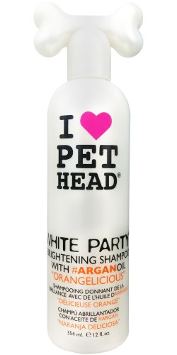 Pet Head White Party Dog Shampoo 475Ml Brightening Shampoo With Argan Oil