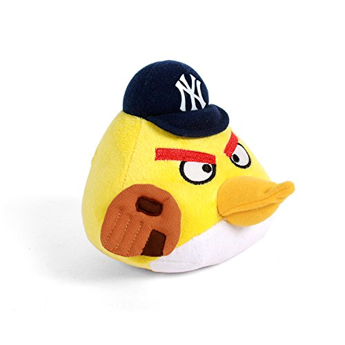 MLB New York Yankees Angry Bird Plush Toy, Small, Yellow
