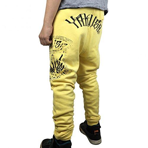 Yakuza -  Pantaloni sportivi  - relaxed - Basic - ragazzo Banana pallido  6/7 anni