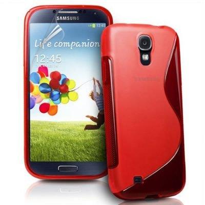Coque Samsung Galaxy S4 i9500 Protection Minigel S-Line Rouge + Film Protection Ecran