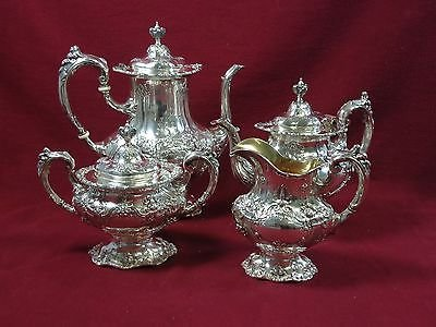 Francis I By Reed & Barton Sterling Silver Tea Set Coffee Pot Large 4Pc