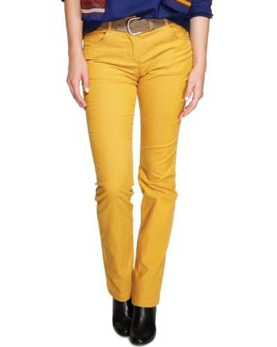 s.Oliver - Pantalón para mujer, talla W36 / L32 (ES 46), color amarillo 1544