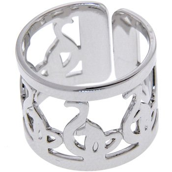 Adjustable Silver Toned BABY PHAT Ring