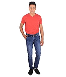 Dolon Men's Slim Fit Jeans (JNSD06S _Blue_28)