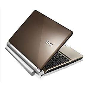 MSI U160-007US 10-Inch Brown Netbook