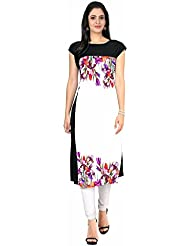 Denim Women's Clothing Designer Party Wear Low Price Sale Offer Crepe Multi Color Heavy Printed Top Tunic Free...