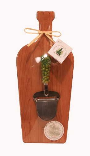 Out of the Woods of Oregon Large Wine Bottle Board with Green Grape Cheese Planer