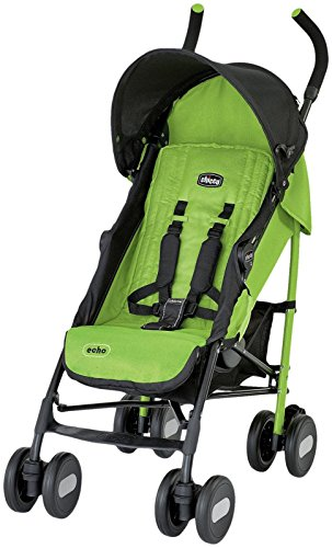 Chicco Echo Stroller- Jade, Black/Green - 1