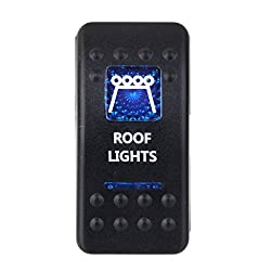Imported 12V 20A Roof Lights Rocker Toggle Switch Blue Led Light Car Boat Sales 5 Pin