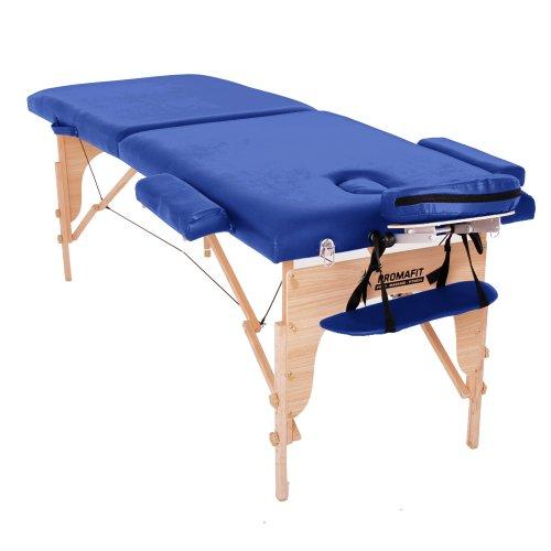 Massageliege-Wellnessliege-Holzliege-Massagetisch-Therapieliege-Kassel-70-cm-Promafit-Blau