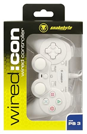 Manette filaire blanche pour PS3 - wired : con