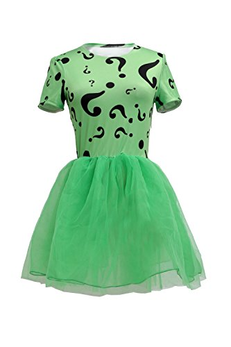 Kids Riddler Costume Green Dress Children Girls Halloween Custom Made