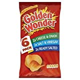 Golden Wonder Variety Crisps 6 Pack 150g