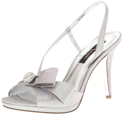 Nina Women's Roslyn YF Dress Sandal,Silver,9 M US