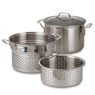 Calphalon® Stainless Steel 8 qt. Multi-Pot 4-Piece Set (Calphalon 8 Qt Pot compare prices)