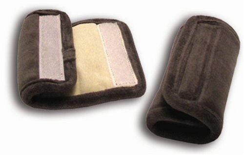 Sunshine Kids Soft Wraps Car Seat Harness Pads, Grey/Ivory