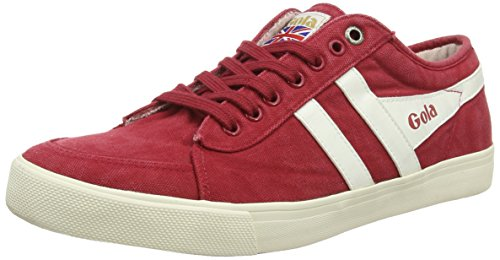 Gola Men's Comet Casual Sneaker,Red/Off White Canvas,US 10 M