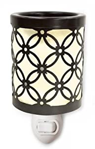 Innocence Plug-in Metal and Frosted Glass Electric Tart Candle Warmer