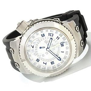 Invicta Men's 0233 Reserve Russian Diver Black Polyurethane Strap Watch