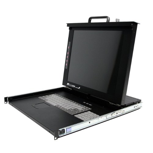 "Startech.Com 1U 17"" Rackmount Lcd Console With 8 Port Multi-Platform Kvm - Kvm Console 1U Rack Mount With 17In Lcd"