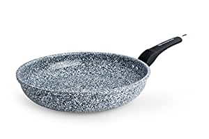 waxonware non stick granite ceramic coated frying pan skillet with heat resistant. Black Bedroom Furniture Sets. Home Design Ideas