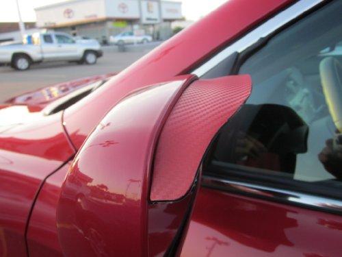 2006-2012 LEXUS IS250 IS 250 RED CARBON FIBER SIDE MIRROR VISOR RAIN GUARDS 2007 2008 2009 2010 2011 06 07 08 09 10 11 12 (Lexus Is 250 Rain Guards compare prices)