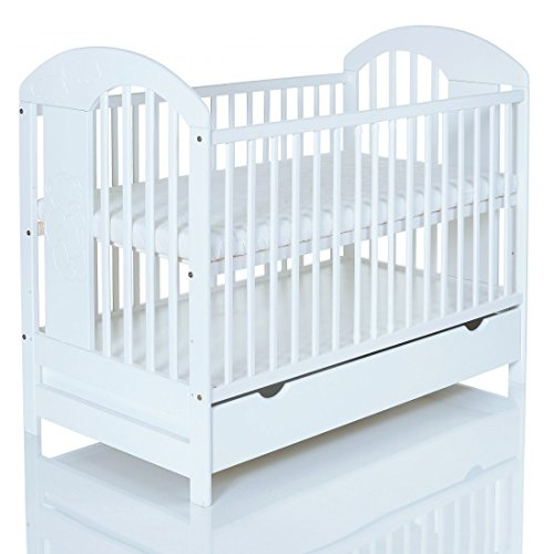 Babybett-120x60-cm-Kinderbett-Lasse-weiss-mit-Schubladenfach-Bettkasten-Holz-massiv-und-stabil