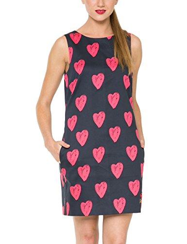Desigual Damen A-Linie Kleid CRISTINA, Knielang, Gr. 34 (Herstellergröße: 36), Schwarz (NEGRO 2000) thumbnail