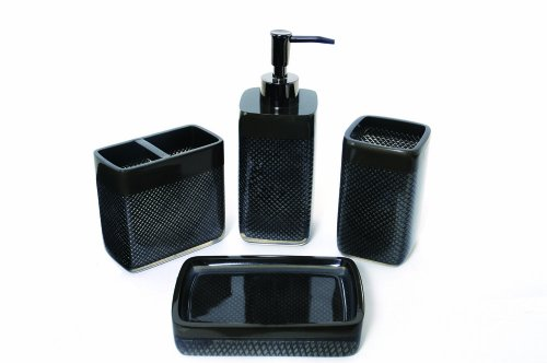 Famous Home Fashions Diamonds Are Forever 4-Piece Set, Black