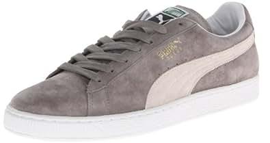 Puma - - Herren Suede Classic Plus Schuhe, EUR: 36, Steeple Gray-White