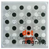 Super Strong Mini Black and White Magnet 36-Piece Set
