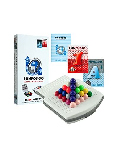Trademark Lonpos 404 Brain Intelligence Puzzle Game, White/Multi Color