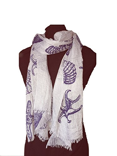 pamper-yourself-now-womens-shells-star-fish-sea-horse-and-fish-long-scarf-170cm-x-70cm-bluey-grey