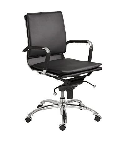 Euro Style Gunar Pro Low Back Office Chair, Black As You See