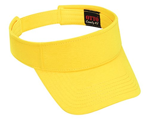 Hats & Caps Shop Jersey Knit Sun Visors - Maize - By TheTargetBuys (Maize Fedora Hat)