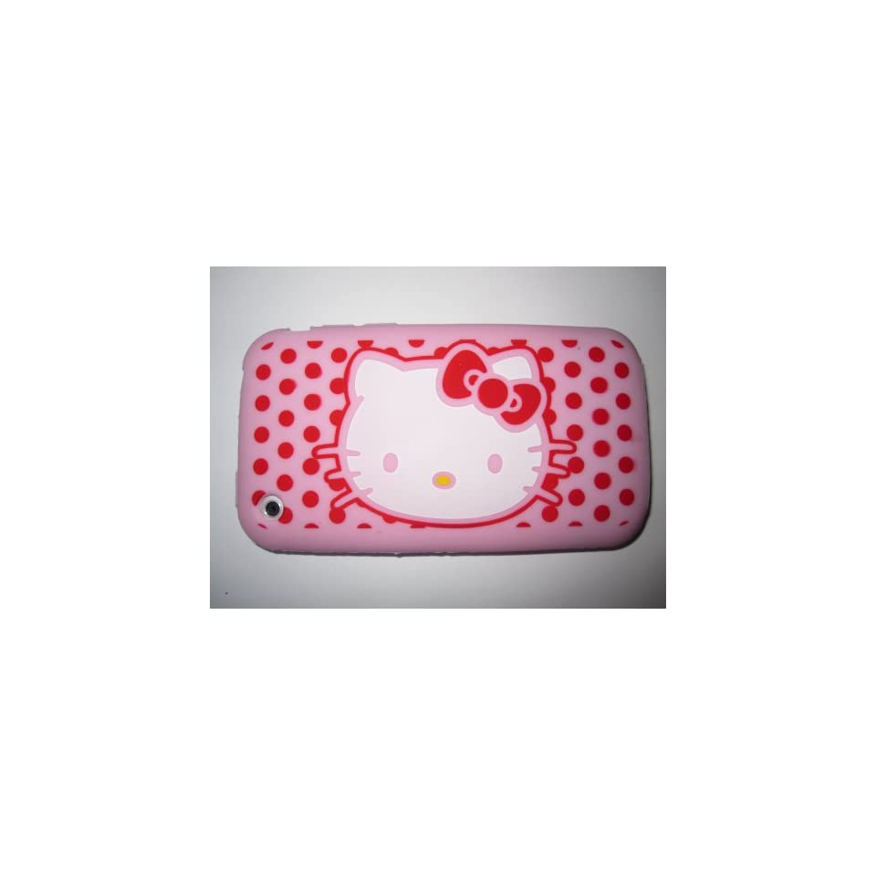 I Phone 3G 3GS light weight Hello Kitty Silicone Case / Skin Pink